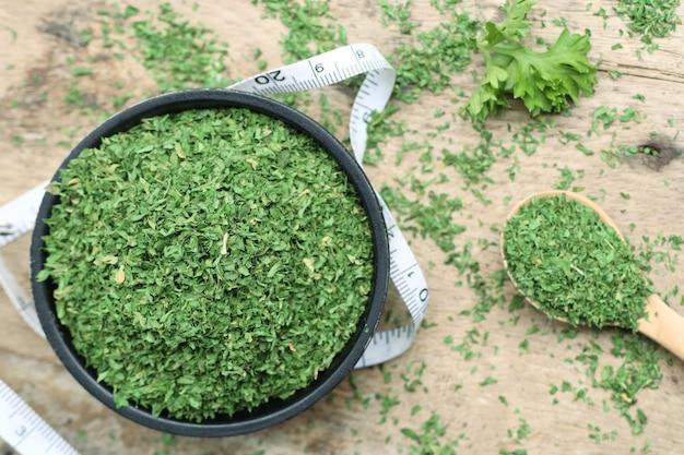 乾燥ハーブパセリの葉