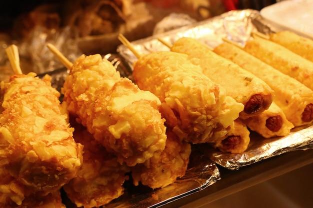 Уличная еда в корее