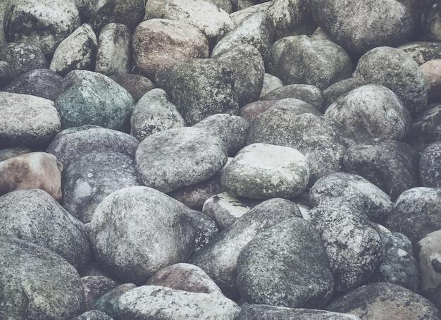 小石の質感と背景、選択的なフォーカス