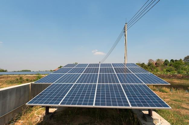 タイの農村地域に電力を供給するソーラーパネル