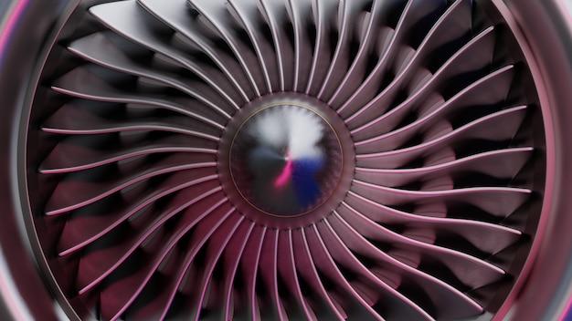 ジェットエンジンの正面図。