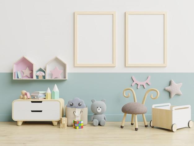 Интерьер, детская комната, настенная глухая рама, детская.