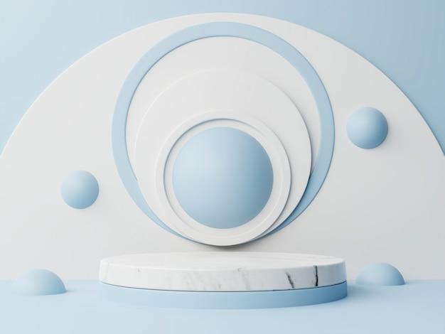 円と球の抽象的な表彰台