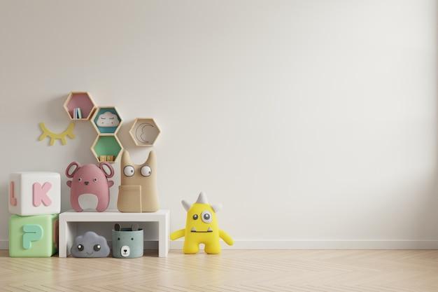 Стена модель-макета в комнате детей на стене красит предпосылку цветов.