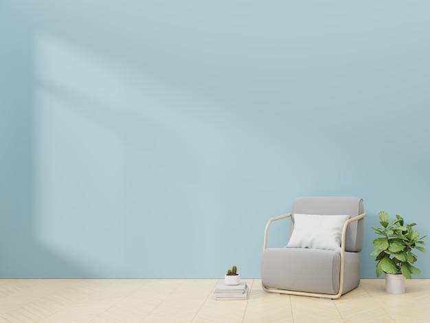 Интерьер гостиной с бархатным креслом