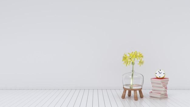 白い部屋空の花瓶のインテリア