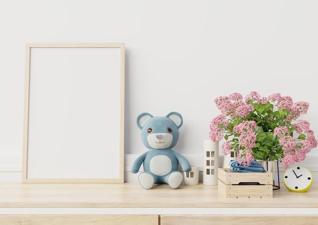 Макет постеров в интерьере детской комнаты