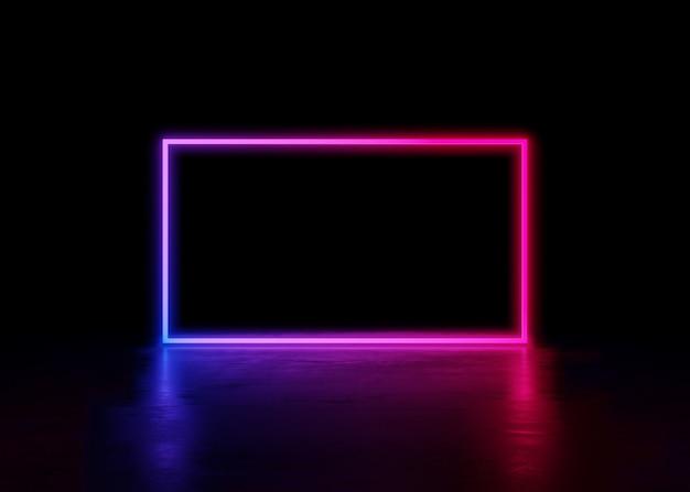 Абстрактный неоновый фон и светящиеся закрученного