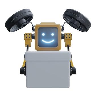 Доставка роботов-дронов. транспортный робот-дрон.
