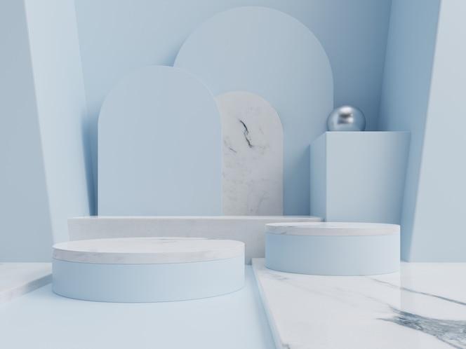 Абстрактный подиум для размещения товаров и для размещения призов