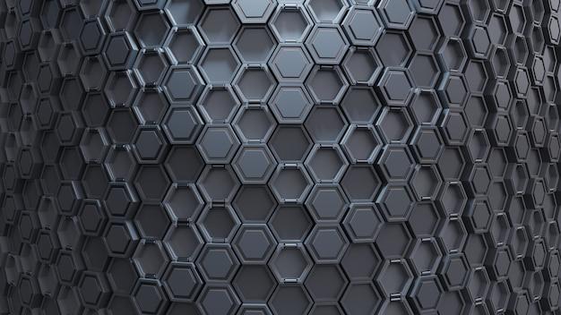 抽象的な技術的な六角形パターン。