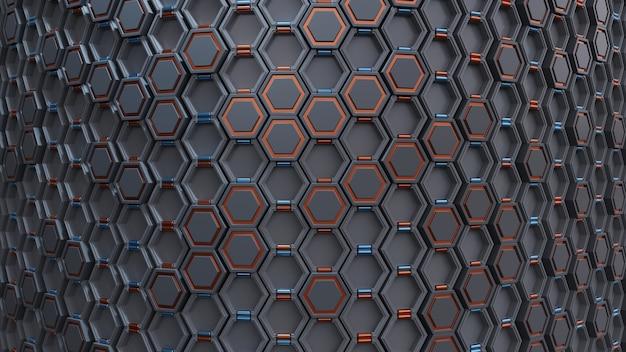 技術の六角形の抽象的な背景