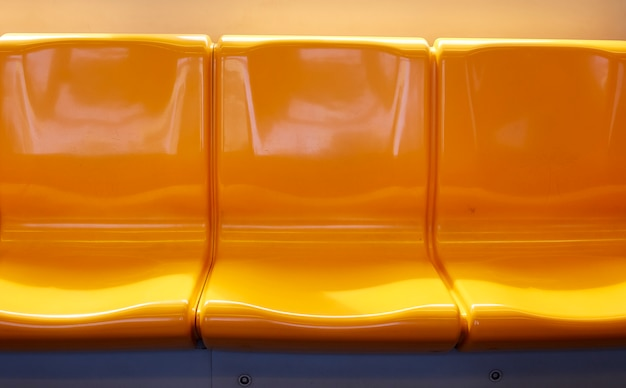 タイの電車の椅子