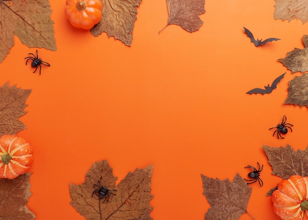 コレクションハロウィーンと秋のパーティーオブジェクトフレーム
