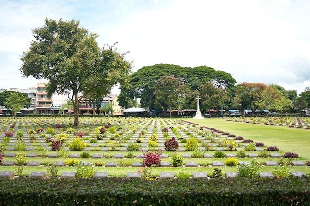 Военное кладбище канчанабури, таиланд