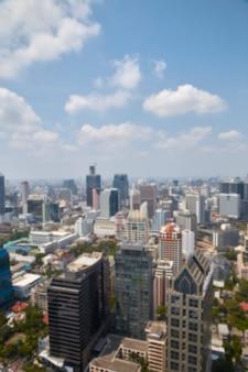 タイのバンコクでぼやけた街並み
