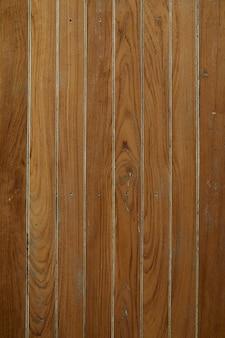 茶色のヴィンテージの木製の壁のパノラマ