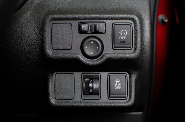 車のセキュリティオプション技術を備えたボタンパネル。