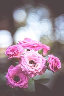 レトロな花、ヴィンテージの花の背景
