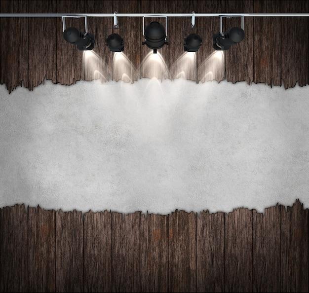 スポットライト付きの室内インテリアビンテージ。そのハロウィーンの背景として使うことができる