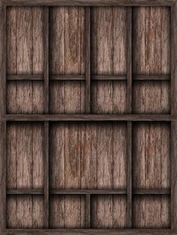 木製棚、グランジ産業インテリア