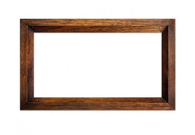 Деревянная рамка, изолированная на белом