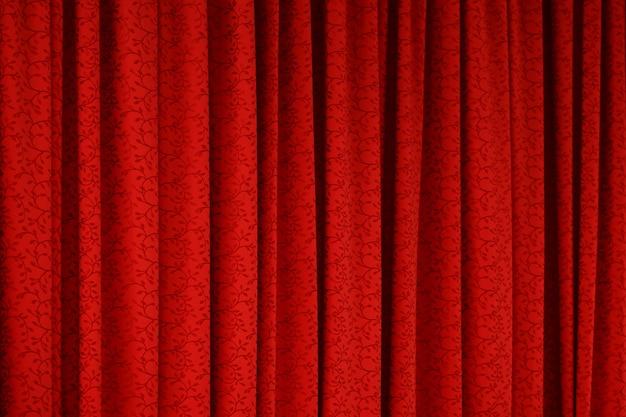 赤いカーテンのテクスチャ背景