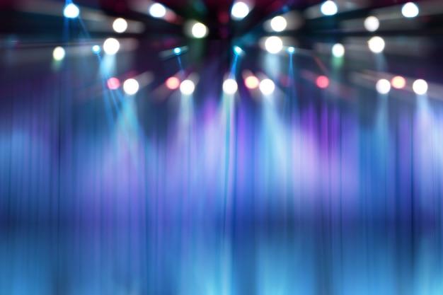 ステージ上のぼかしライト、コンサート照明の抽象イメージ