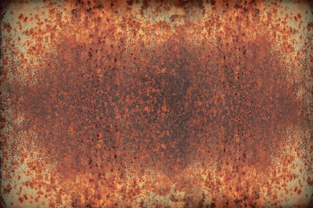 赤い風化した鉄またはさびた金属鉄板、業界背景のテクスチャ