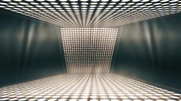 抽象的な輝く背景、舞台照明の背景
