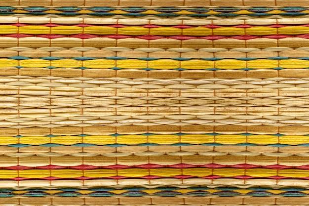 竹マットの色パターン背景デザイン
