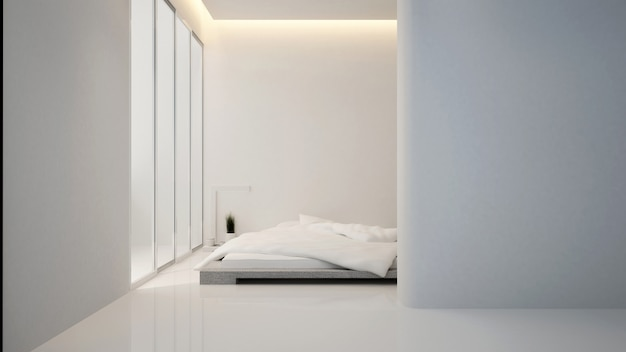 ホテルまたはコンドミニアムのベッドルームとリビングエリア-インテリアデザイン