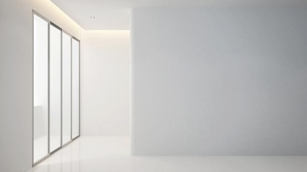Пустая комната в квартире или дом для произведений искусства - дизайн интерьера