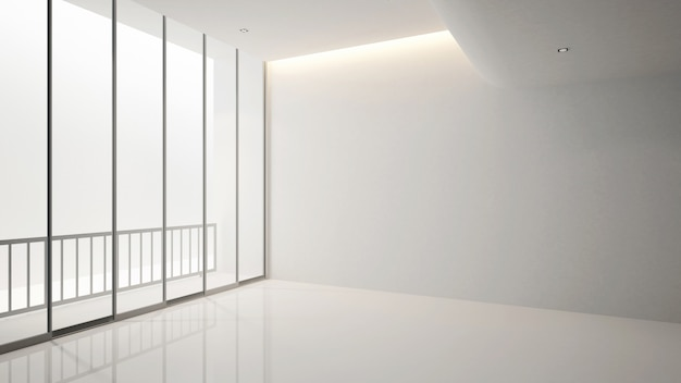 Пустая комната в квартире или отеле для художественных работ - дизайн интерьера