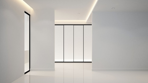 アートワークのためのホテルまたはアパートの空部屋-インテリアデザイン