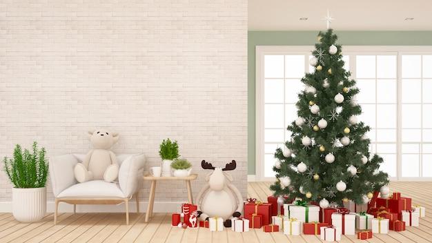部屋のクリスマスの装飾