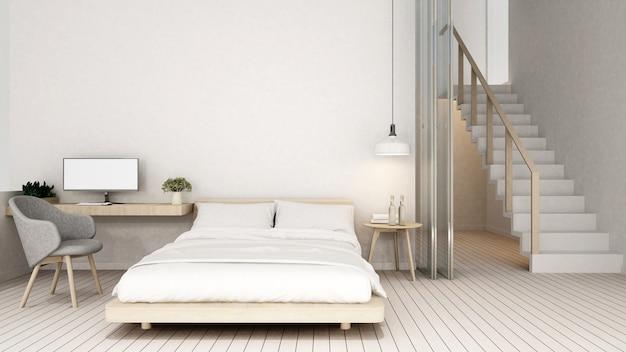 自宅の寝室と職場