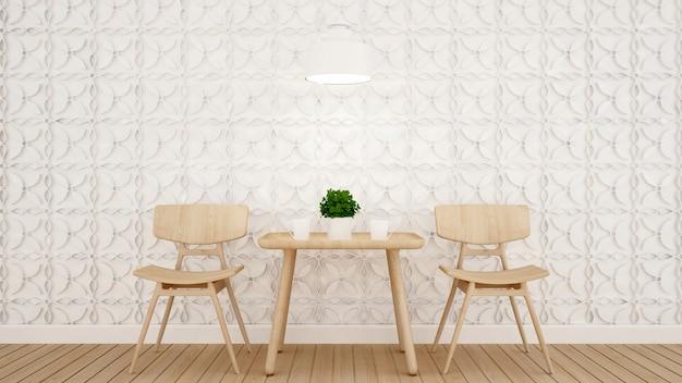 コーヒーショップまたはレストランのダイニングエリアと壁を飾る