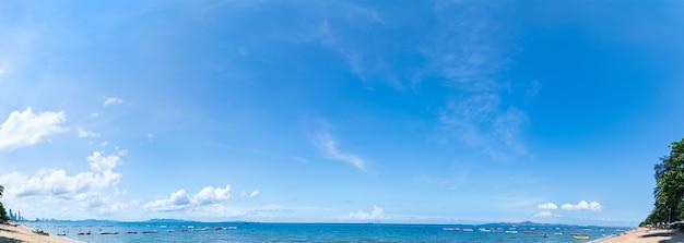 Панорамный вид с воздуха на пляже паттайя