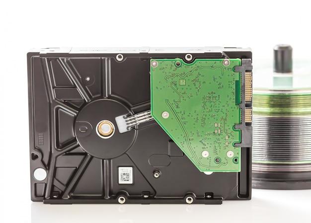 ハードディスクドライブとコンパクトディスク
