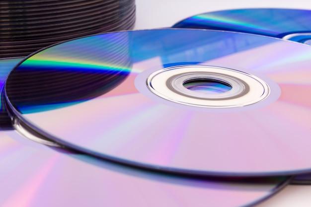 Компакт-диски с крупным планом