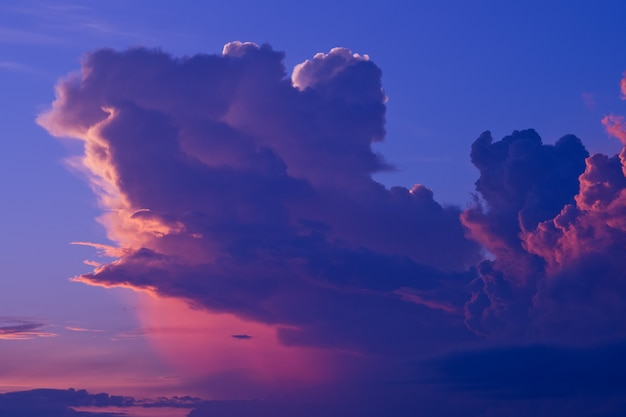Закат с облаками фон, летнее время, красивое небо
