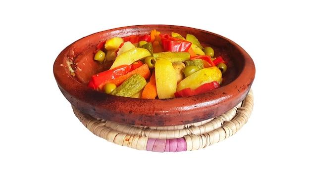 Марокканские блюда таджинских куриных овощей
