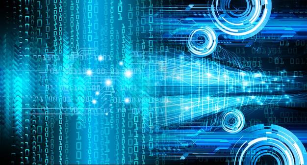 Синий кибер цепи будущей технологии концепции фон