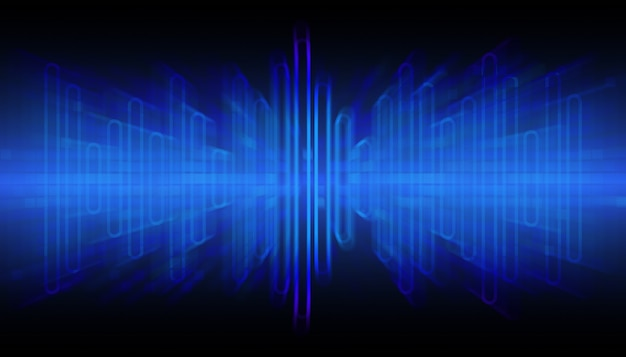 Звуковые волны, колеблющийся на черном фоне