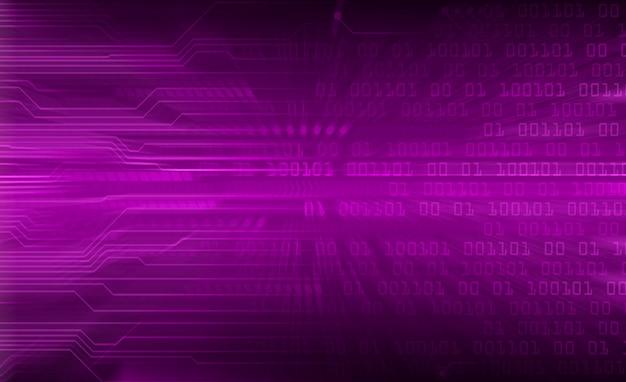 紫色の世界サイバー回路の将来の技術の背景