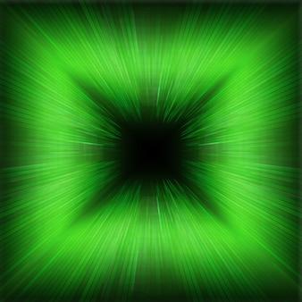 緑のズーム波効果の背景