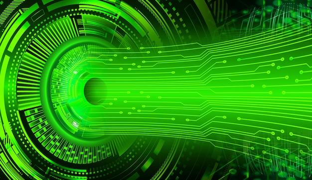 Зеленый глаз кибер цепи будущей технологии фон