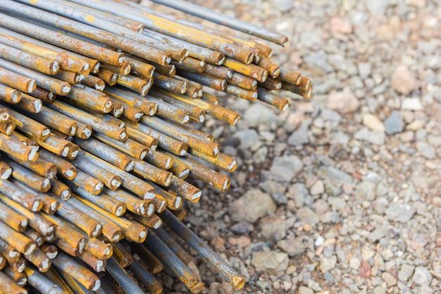 建設に使用される鉄筋、鉄筋