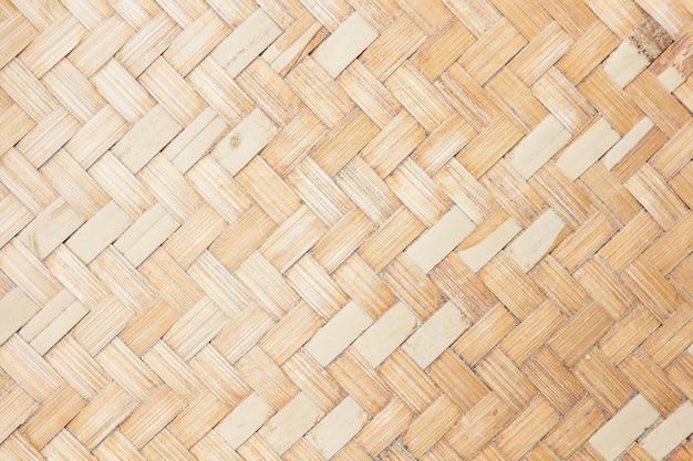 竹の編まれたパターンを閉じる